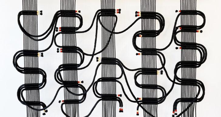 Esta artista usa cuerdas para crear enormes circuitos