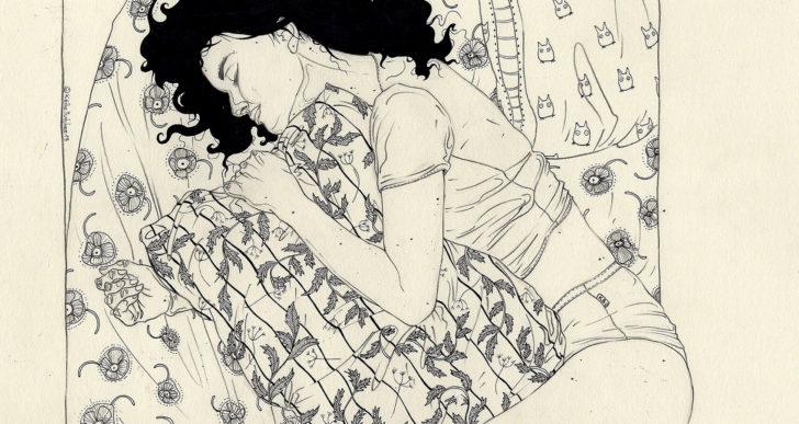 Ilustraciones por Käthe Butcher representan la intimidad