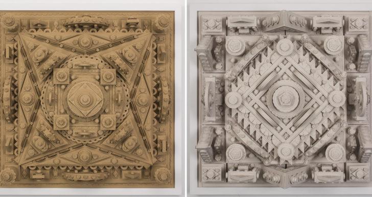 Michael Velliquette crea esculturas arquitectónicas con capas de papel