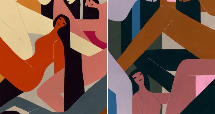 Las figuras femeninas minimalistas de Laura Berger