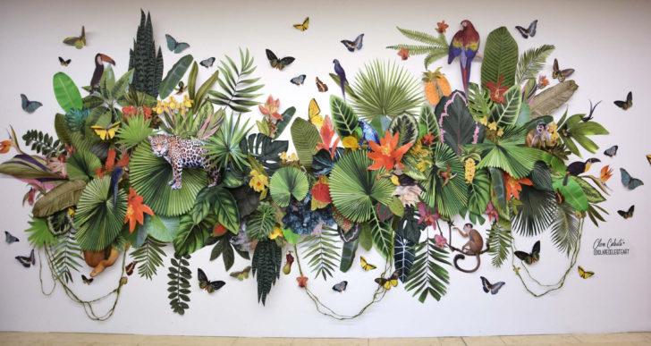 Las instalaciones de papel de Clare Börsch derrochan flora y fauna