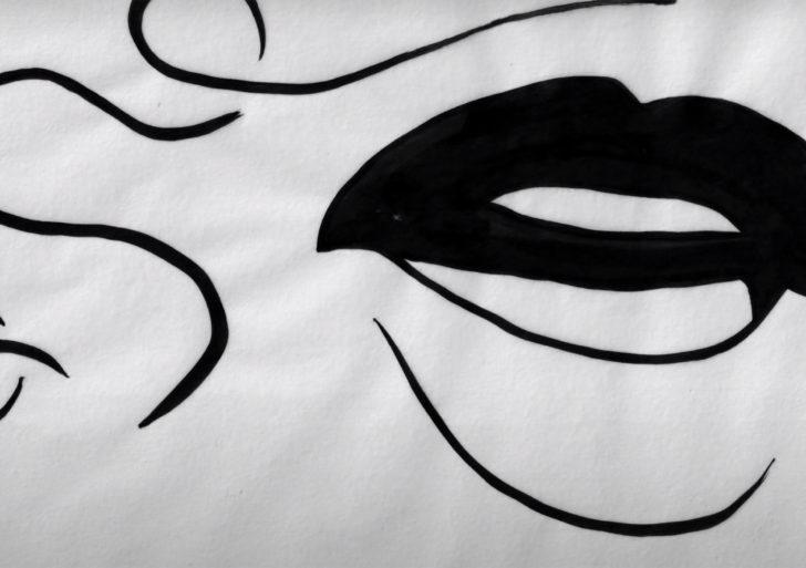 Hipnotizante video musical muestra los labios animados del artista