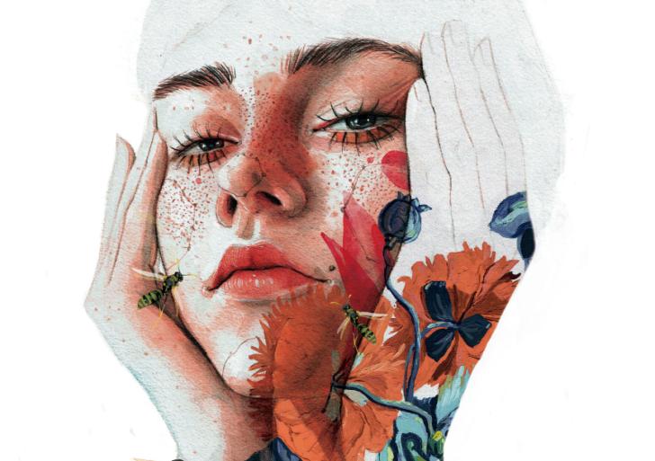 Las ilustraciones expresivas y experimentales de Ana Santos