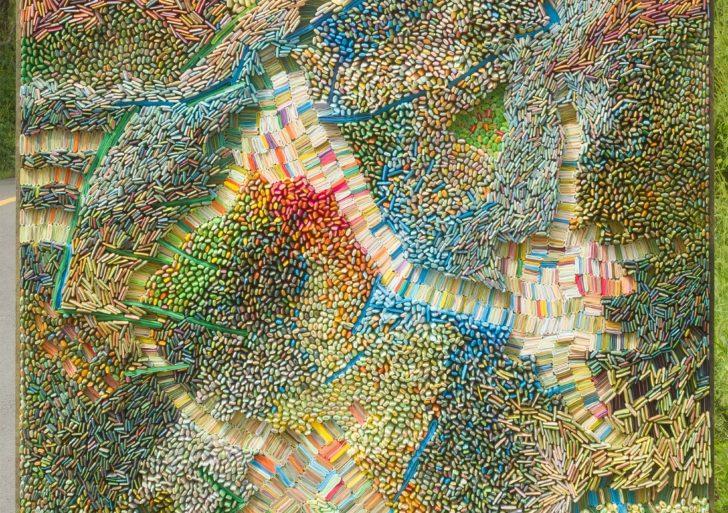Innumerables semillas de papel crean los paisajes de Ilhwa Kim