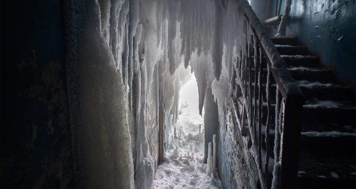 Estas fotos capturan departamentos congelados en Rusia