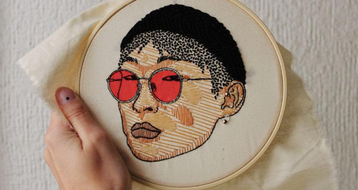 Los retratos bordados expresivos de Brenda Risquez