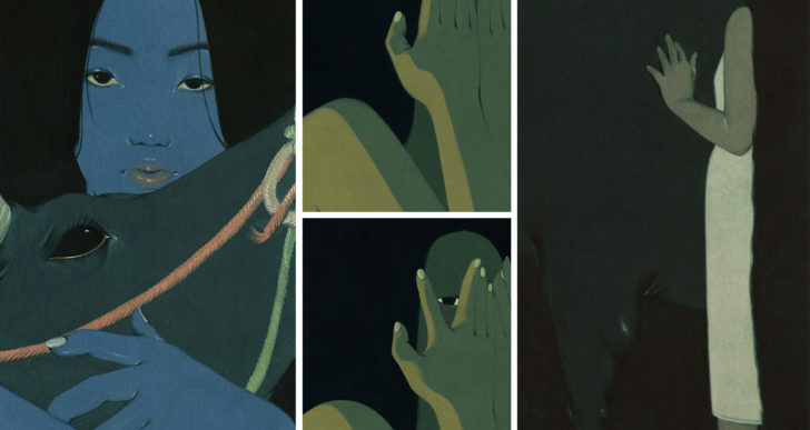 Plantas, pelo y sombras ocultan a mujeres en las pinturas de Mai Ta