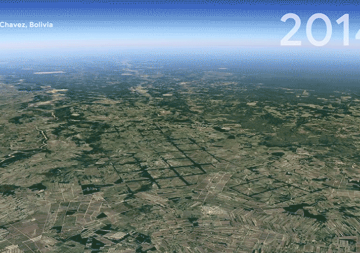 Nueva herramienta de Google Earth nos deja ver cómo hemos cambiado el planeta