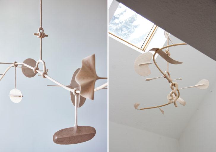 Suaves curvas y espacios negativos completan estas esculturas