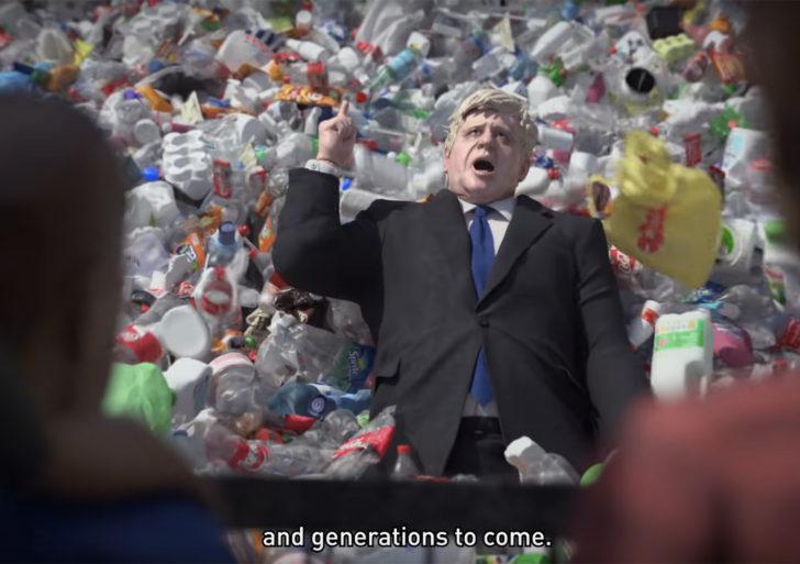 Esta animación habla del problema que tenemos con el plástico