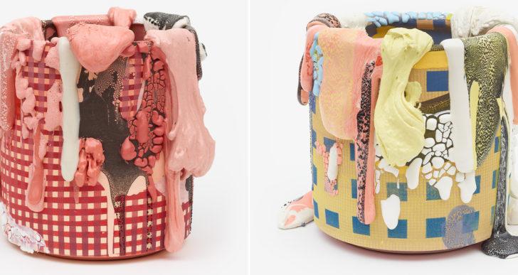 Vasijas glaseadas y coloridas por Brian Rochefort