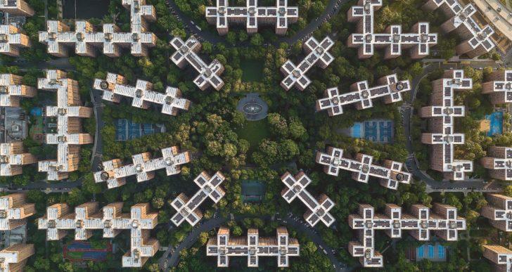 Estas fotos encuadran patrones interminables en la arquitectura