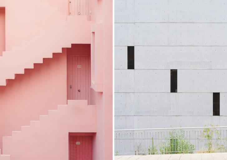Composiciones precisas convierten la arquitectura en retratos divertidos