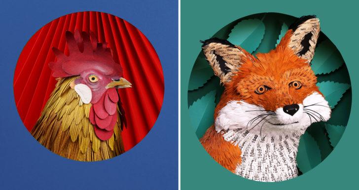 Esculturas increíblemente detalladas de papel por Diana Beltrán Herrera