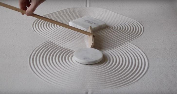 Una exploración de los patrones de un jardín zen