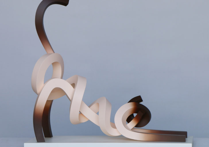 Coloridas tiras de metal forman animales minimalistas
